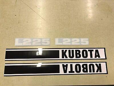 Kubota L225 Hood Decals