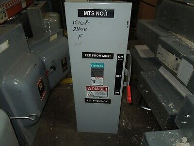 Siemens Dtf323 100a 3ph 3p 240vac Double Throw Fusible Manual Transfer Switch