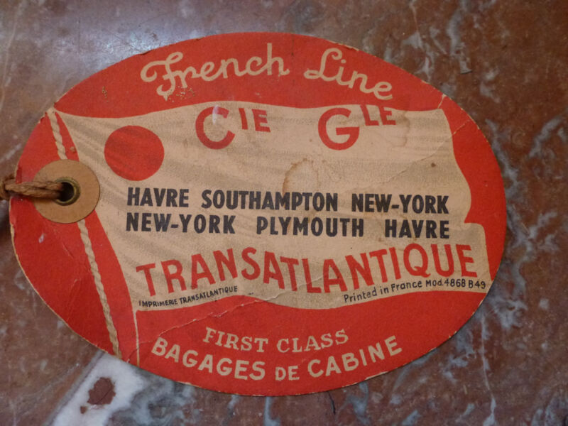 vintage tFrench Line Luggage Tag