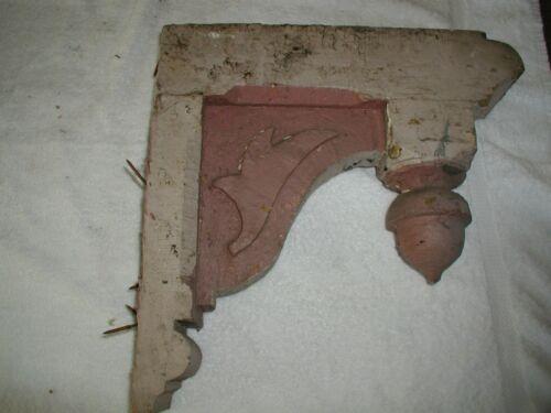 "Pair Antique Victorian Porch Corner Corbels brackets 15"" x 15"" Acorn Finial"