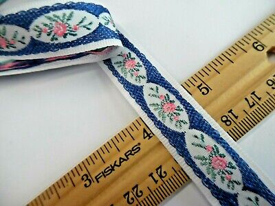 VICTORIAN LOOK RIBBON~EMBROIDERED MICRO FLORAL~11/16