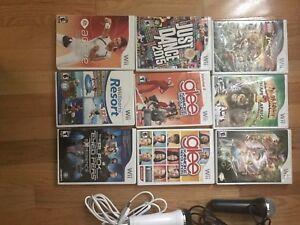 Wii games, karaoke, dance, activity