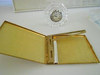 Hollywood Cigarette (COOL GOLD PLATED SCROLL FILIGREE CIGARETTE CASE COLIBRI HOLLYWOOD REGENCY  )