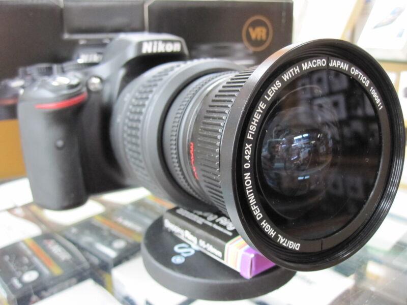 10.5/24mm Ultra Wide Angle Macro Fisheye lens for Nikon d5300 d3300 d3200 d5100