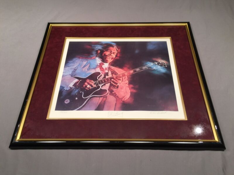 """1993 """"BB KING"""" Print #100 of 650 Signed by BB King and CM Dudash 1 of FIRST 100!"""