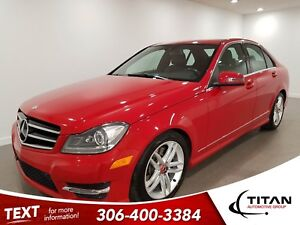 2014 Mercedes-Benz C-Class C300 4MATIC|AWD|CAM|V6|Leather|NAV|Su