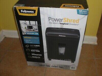 Fellowes 62mc 10-sheet Micro-cut Paper Shredder Local Pick Up Only 08830 Nj
