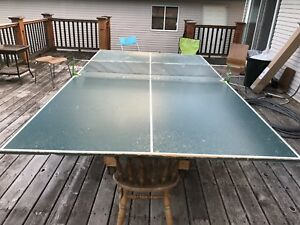Free ping pong table