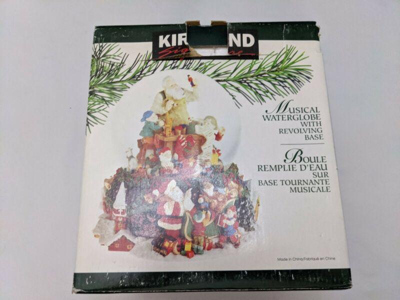 Kirkland Signature Musical Waterglobe Snow Globe Revolving Base Santa,s Workshop