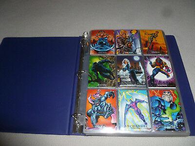 VINTAGE MARVEL UNIVERSE 1993 MASTERPIECES SKYBOX 90 & 180 CARD SET LOT INSERTS