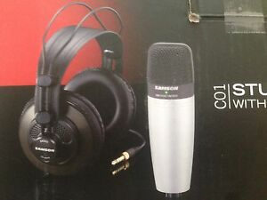 Condenser microphone and headphones Birkdale Redland Area Preview