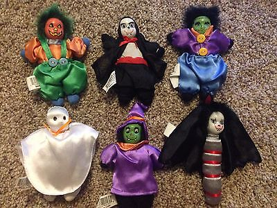 Halloween Dolls Set of 6 Decoration Collectible 6 Inch NEW Fast Ship