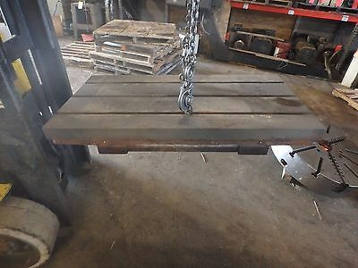 39.25 X 20 X 4 Steel Welding T-slotted Table Cast Iron Layout Plate 3 Slot