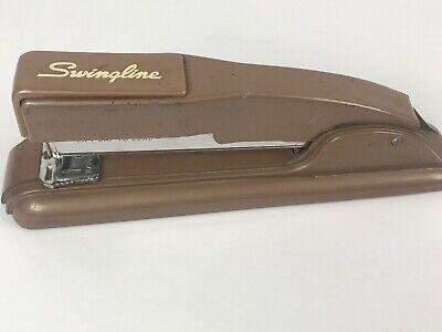 Vintage Swingline Stapler Brown Heavy Duty Office Works Well