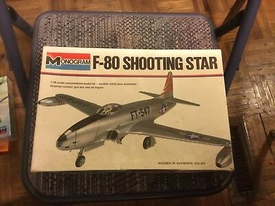 Monogram F-80 Shooting Star 1:48 Scale Plastic Model Kit for sale  USA