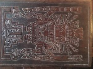 Vintage Aztec Mexican side tables