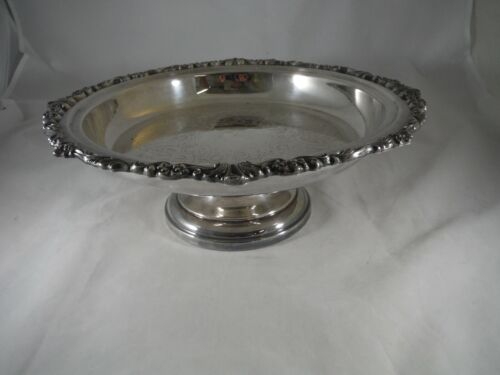 Vintage Silver Plated Footed Cake Plate Pie Stand Pedestal Ornate
