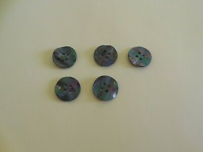 """5  MOTHER PEARL LARGE  BUTTONS  1"""""""