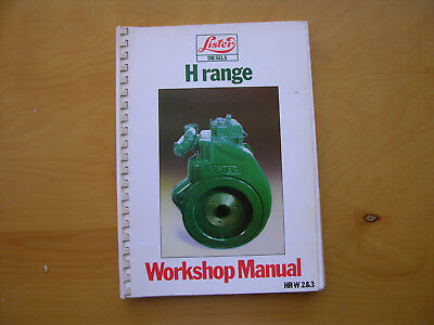 Lister H Range Engine Service Workshop Manual