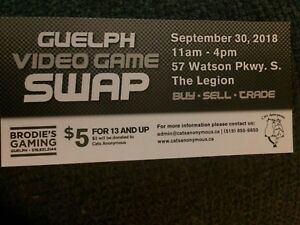 Guelph Video Game Swap Sale Sept 30 11-4