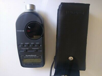 Radio Shack Realistic 33-2050 Analog Sound Level Meter With Case Working