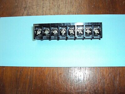 8-position Pcb Mount Single Row Barrier Terminal Block 9.525mm0.375 Pitch Nos