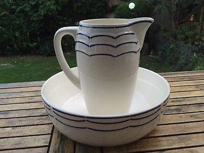 Waschlavoir Waschset .Keramik Art Decó Wohl Frankreich