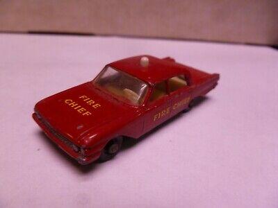 1:87 Scale- Matchbox-No. 59-  Ford Fairlane Fire Chief- NO BOX