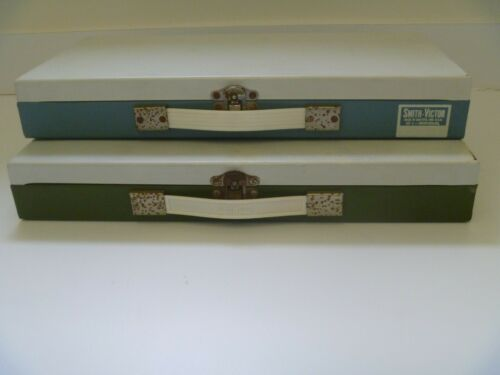 Vintage Metal Slide File Box - Lot of 2