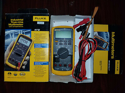 Fluke 87v True Rms Industrial Multimeter With Temperature