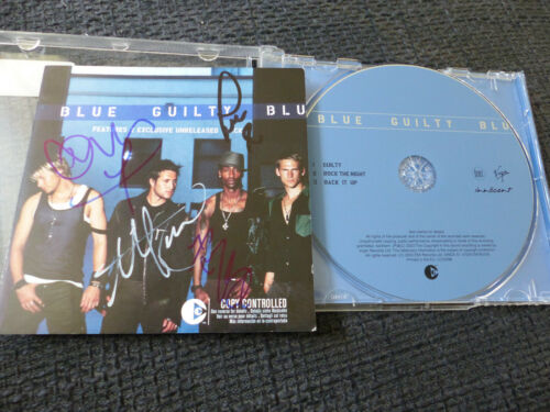 """BLUE signed Autogramm auf """"GUILTY"""" CD InPerson LOOK"""