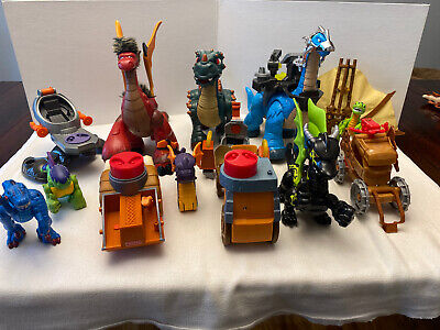 Imaginext DINOSAUR LOT of 14 Adventures Castle Dino Fisher Price Dragon Flying