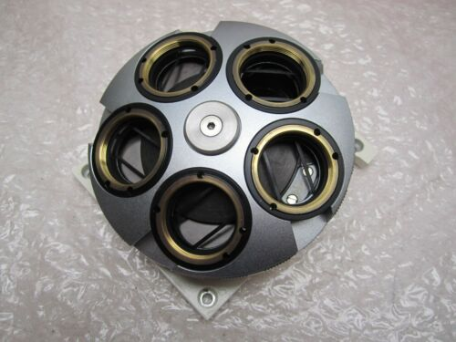 5 OBJECTIVE MICROSCOPE TURRET - CAME OFF OF CARL ZEISS MICRO PRECISION SCOPE
