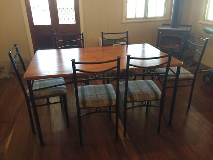 Dining table six chairs Rosevale Ipswich South Preview