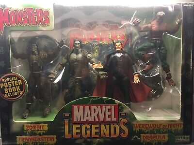 Marvel Legends Monsters 4-Pack Boxed Set DRACULA WEREWOLF ZOMBIE FRANKENSTEIN