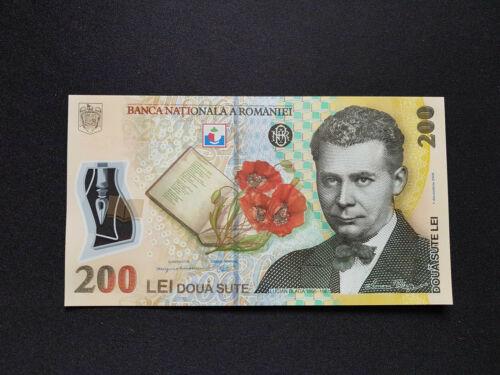 ROMANIA 200 LEI - 01.12.2006 (2016) P-122h UNC Polymer Banknote