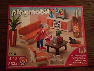 Playmobil 5332 Modern Living Room for Dollhouse New in Box!