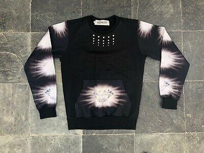 Keenkee Sweatshirt Small Streetwear Black Diamonte Designer
