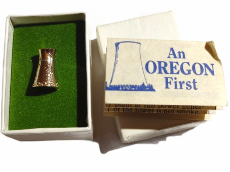Vintage Nuclear Power Plant Pin- Trojan An Oregon First