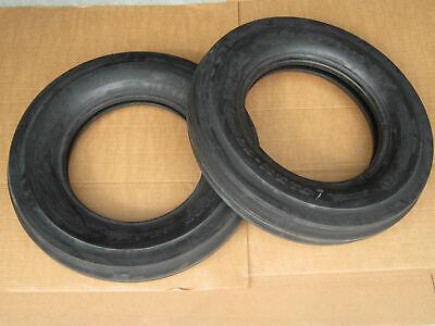 2 6.00-16 Front Tractor Tires Tubeless John Deere Case Ih 6.00x16 600-16 3 Rib
