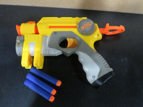 NERF Gun Nite Finder EX-3 Single Shot With Laser Pointer 2004 Red Dot 5 Darts
