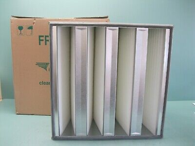 "Luwa N-F8-V40-610-RF UltraFilter  HEPA Air Filter 24/"" by 24/"" Element ss"