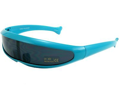 Trekkie Robot Devo Hairband 80s Robotica Party Cyclops Sunglasses Blue