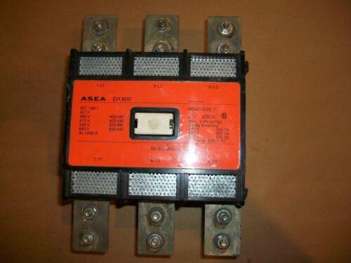 ASEA SIZE 7 CONTACTOR  MODEL EH800C-1     600hp @ 480vac   120vac Coil