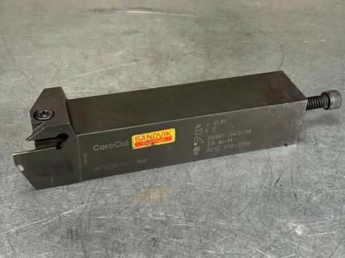 Sandvik RF123E032-16B Indexable Tool Holder CoroCut 1-2 Parting Grooving 1""