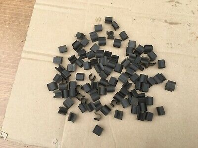 PACK OF 100 METAL WIRING LOOM CLIPS, NEW, UNUSED STOCK,