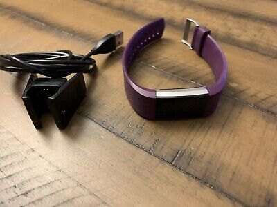 Fitbit Charge 2 Activity Tracker - Purple Band - Charger L/G