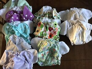 AMP One Size Duo Pocket Diapers EUC