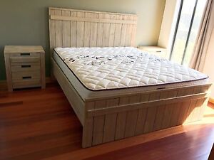 Hardwood Timber 4 Piece King bedroom Suit Bed/Tall Chest/chest drawers Point Cook Wyndham Area Preview