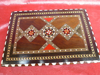 beautiful,antique Casket__Wood Decorated__Cigarette Box__